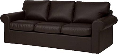 The Ektorp 3 Seat Sofa Cover Replacement is Custom Made for IKEA Ektorp Sofa Cover, an Ektorp Sofa Slipcover Replacement Black PU Leather