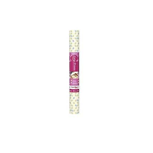 Con-Tact Brand Solid Grip Prints Non-Adhesive Non-Slip Shelf and Drawer Liner, 18-Inches by 4-Feet, Dottie Petite Pink