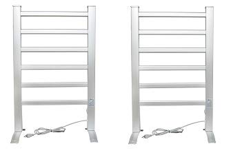 LCM Home Fashion 6-Bar Freestanding Towel Warmer, Drying Rack (5-(Pack))