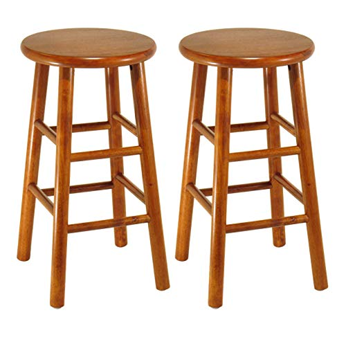 Winsome Wood 75284 Tabby Stool, 24-Inch, Cherry img 1