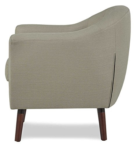 Homelegance Lucille Fabric Upholstered Pub Barrel Chair, Beige img 2