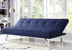 Serta RNE-3S-NB-SET Rane Collection Convertible Sofa, L66.1 x W33.1 x H29.5, Navy Blue img 3