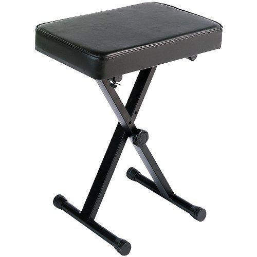 Yamaha PKBB1 Adjustable Padded Keyboard X-Style Bench, black img 1