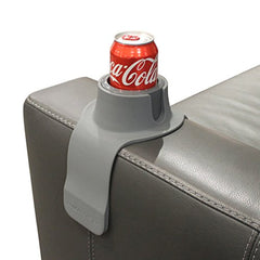 CouchCoaster �The Ultimate Anti-Spill Cup Holder Drink Coaster for Your Sofa or Couch, Steel Grey img 1