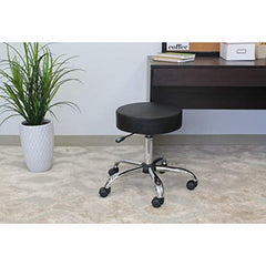 Boss Office Products B240-BK Be Well Medical Spa Stool in Black img 1
