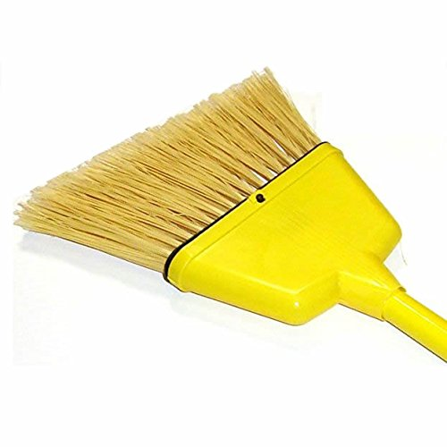 "HUB City Industries 11-SA Yellow Flagged Plastic Bristles, 5 to 8"" Angle. Plastic Handle and Sleeve"