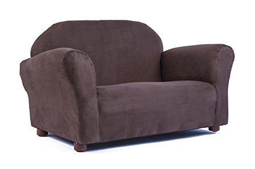 Keet Roundy Microsuede Children's Sofa, Brown img 1