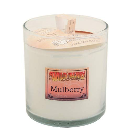 Mulberry (+Grape+Almond) Scented Candle 8 oz, Glass Tumbler, Soy Wax