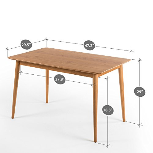 Zinus Jen Mid-Century Modern Wood Dining Table / Natural img 1