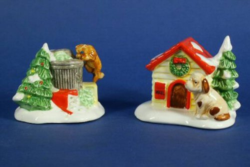 DEPT 56 SNOW VILLAGE CAT AND DOG RETIRED MINT SET OF 2 #51314