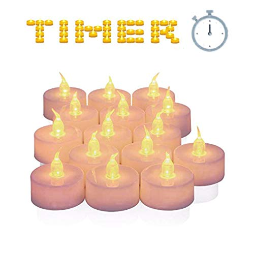 Tea Lights Candles,Tea Lights,Flameless Tea Lights,25pcs Led Tea Lights Realistic and Bright Flickering Bulb Battery Operated Fake Candle for Home and