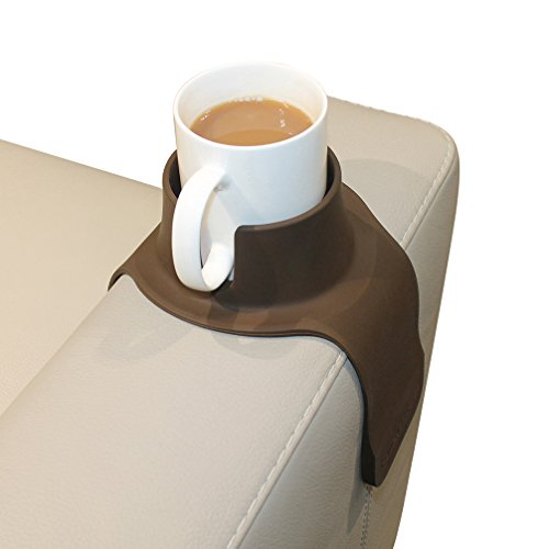 CouchCoaster �The Ultimate Anti-Spill Cup Holder Drink Coaster for Your Sofa or Couch, Steel Grey