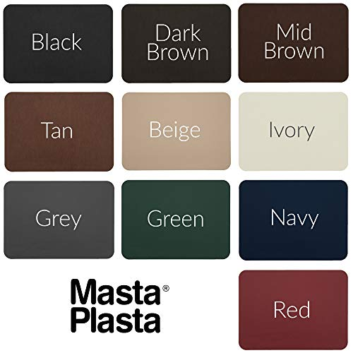 MastaPlasta Self-Adhesive Patch for Leather and Vinyl Repair, XL Plain, Dark Brown - 8 x 11 Inch - Multiple Colors Available img 2