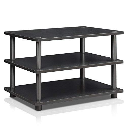 Furinno 15094BW/BK Turn-N-Tube Corner Tv Stand Blackwood