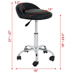 Nova Microdermabrasion Adjustable Hydraulic Rolling Swivel Salon Stool Chair Tattoo Massage Facial Spa Stool Chair with Back Rest (PU Leather Cushion) img 3