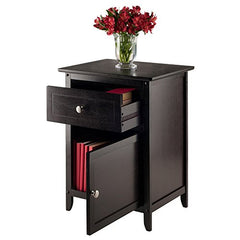 Winsome 92815 Eugene Accent Table, 18.9 inches, Espresso img 2