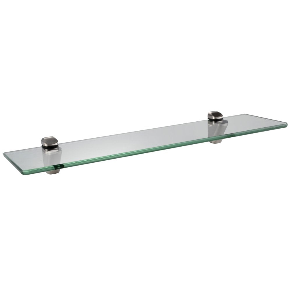 KES BGS3102 Lavatory Bathroom Corner Tempered Glass Shelf 8MM-Thick Wall Mount Triangular, Polished Chrome