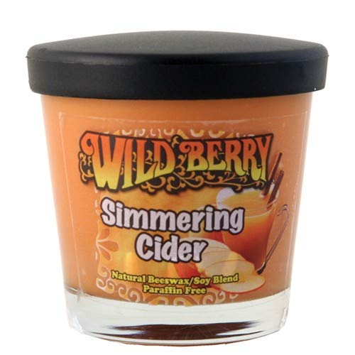WB Scented Candle Simmering Cider (Apple Cinnamon), 7 oz, Glass Jar, Soy/Beeswax