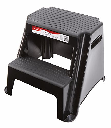 Rubbermaid RM-P2 2-Step Molded Plastic Stool with Non-Slip Step Treads 300-Pound Capacity img 1
