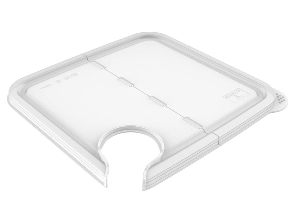 EVERIE Collapsible Hinged Sous Vide Lid Compatible with Anova Nano Sous Vide Cooker and Rubbemaid 12,18,22 Qt Sous Vide Container, Corner Mount (Fits
