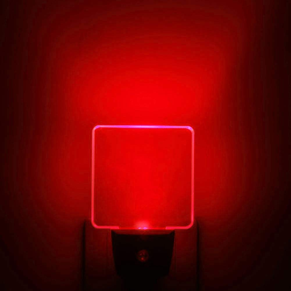 Red LED Night Lights, Auto ON/Off Plug in Wall Lamp with Dusk to Dawn Sensor [Pack of 2]