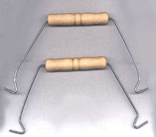 Wire and Wood Handle For Pails, Buckets and Baskets -5 Piece Pack