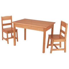 KidKraft Rectangle Table And 2 Chair Set - Espresso White