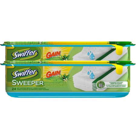 Swiffer Sweeper Wet Mopping Cloths Refills, Gain Original Scent, 48 Count