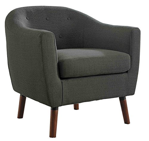 Homelegance Lucille Fabric Upholstered Pub Barrel Chair, Beige