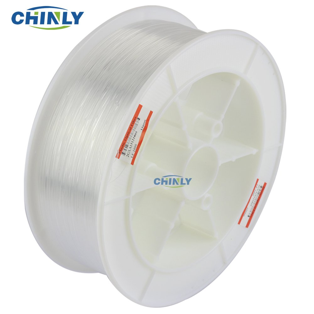 CHINLY 0.03in(0.75mm) 656ft(200M)/roll PMMA plastic end glow optical fiber cable for star sky ceiling all kind led light engine driver