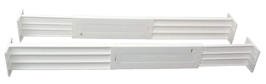 Dial Industries B160502 Adjustable Spring Loaded Drawer Dividers, 2 Pack, White