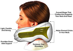 Headache & Migraine Pain Relief Pillow-Neck & Shoulder Stress Relief Pillow-Acupressure Tool-Emerald Green Neck Sofa img 2