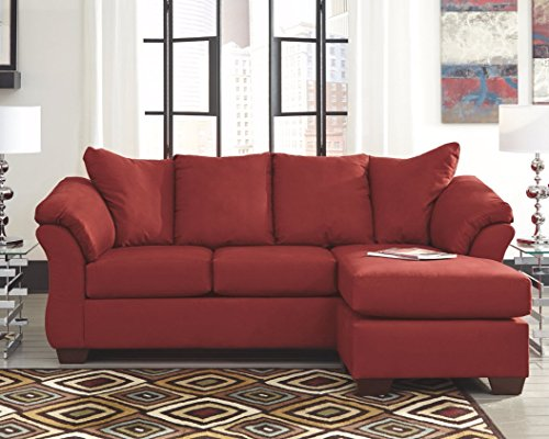 Ashley Furniture Signature Design - Darcy Sofa with Chaise - Contemporary Style Couch - Salsa img 1
