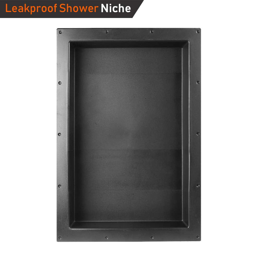 "Rectangle Shower Niche 17"" x 25"" Single Shelf - Shower Cube Ready for Tile Waterproof Leak-proof Bathroom Indoor Recessed Niche Storage Washing Toilet"