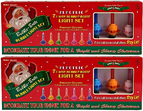 Christopher Radko Bubble-Lite Bubble Light, Light Strand, Set of 7 (2 Pack)
