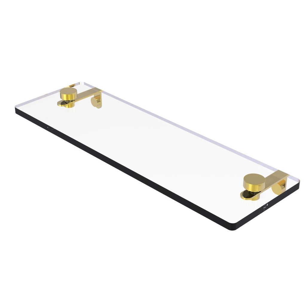 Allied Brass NS-1 16 in. Glass Vanity Shelf with Beveled Edges