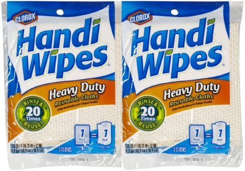 Handi Wipes Heavy Duty Reusable Cloths, Color May Vary - 3 ct - 2 pk by Handi Wipes