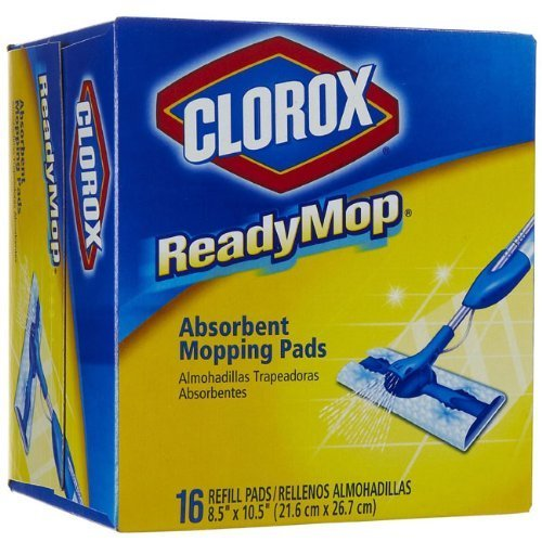 Clorox Ready Mop Pads, 16 Refill Pads, 8 Pack