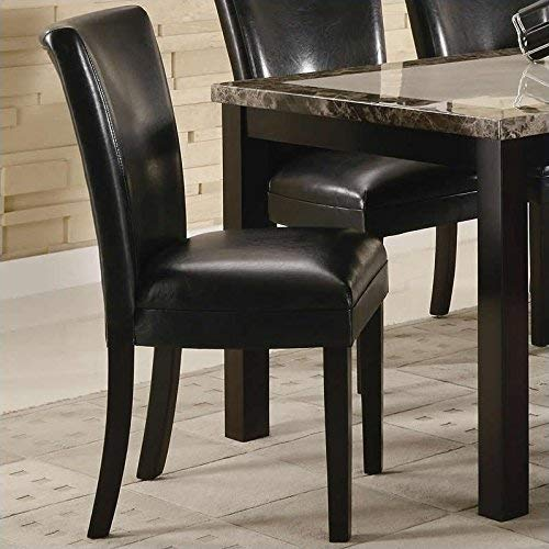 Carter Upholstered Dining Side Chairs Cappuccino and Black (Set of 2)
