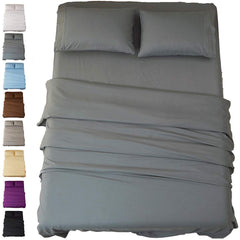 Sonoro Kate Bed Sheet Set Super Soft Microfiber 1800 Thread Count Luxury Egyptian Sheets 18-Inch Deep Pocket Wrinkle and Hypoallergenic-4 Piece(Califo