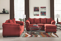 Ashley Furniture Signature Design - Darcy Sofa with Chaise - Contemporary Style Couch - Salsa img 2