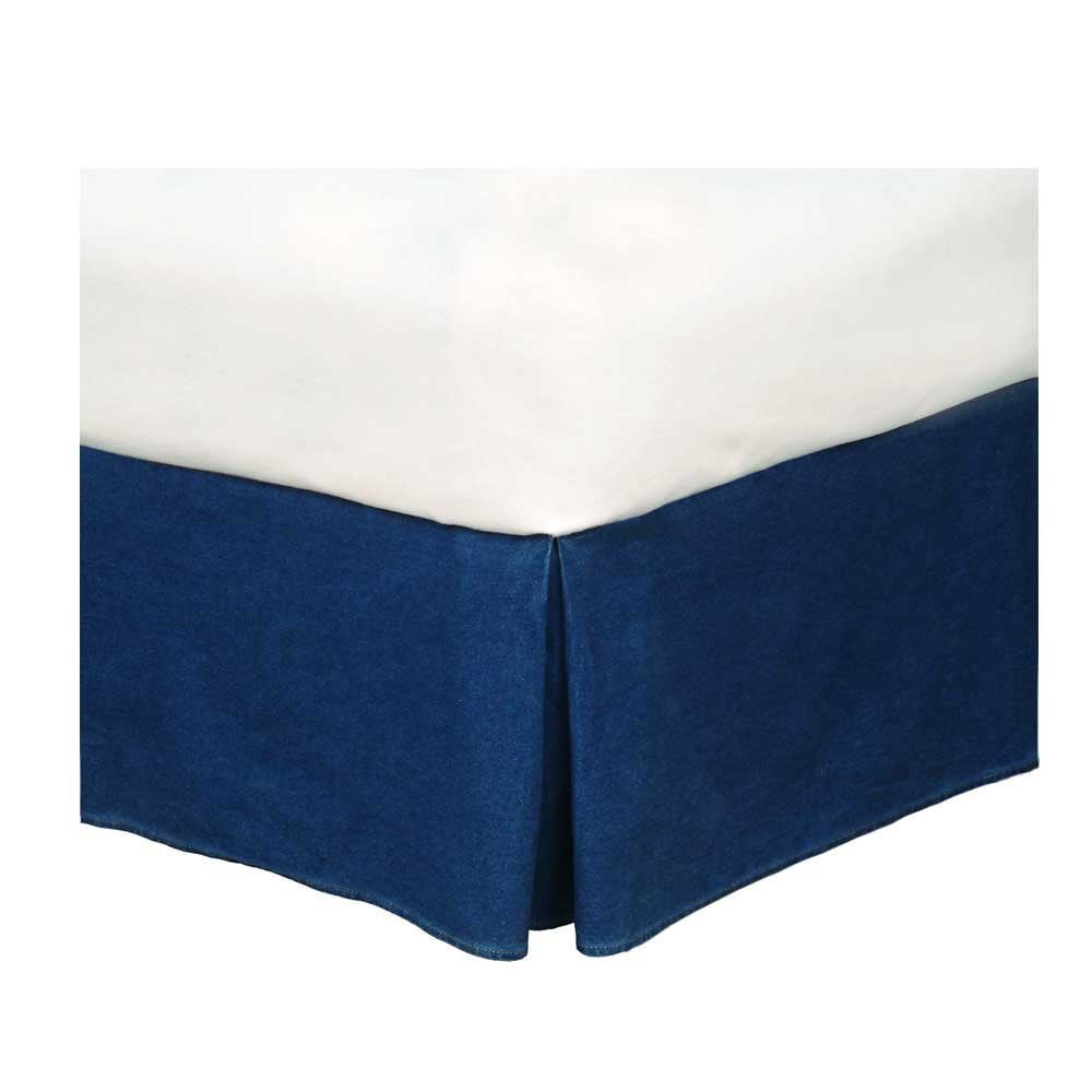 Karin Maki American Denim Bed Skirt Size: Queen
