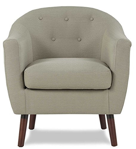 Homelegance Lucille Fabric Upholstered Pub Barrel Chair, Beige img 1