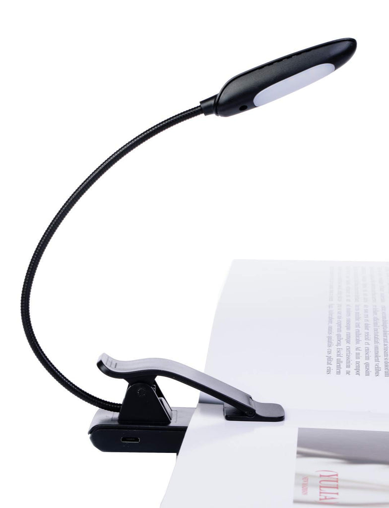 Gift for Book Lover - Extended 1200mAh to Read 85 Hours x Charge - 9 Brightness Levels - Eye Care Clip on Book Light for Bed, Travel, Craft - BONUS UL