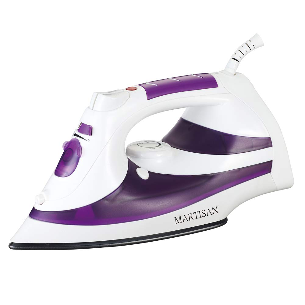 MARTISAN SG-5098 Steam Iron 1200W Non-Stick Soleplate, Self-Cleaning Function, Purple