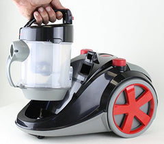 Ovente Bagless Canister Cyclonic Vacuum with HEPA Filter, Comes with Pet/Sofa Brush, Telescopic Wand, Combination Bristle Brush/Crevice Nozzle and Retractable Cord, Featherlite, Corded (ST2010) img 3