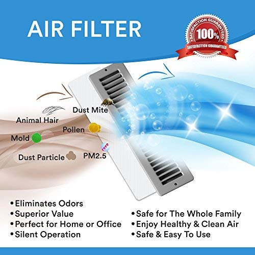 "NWE Vent Filter, Air Vent Filters,Vent Register Filters/Pack of 24(4""x10"")"