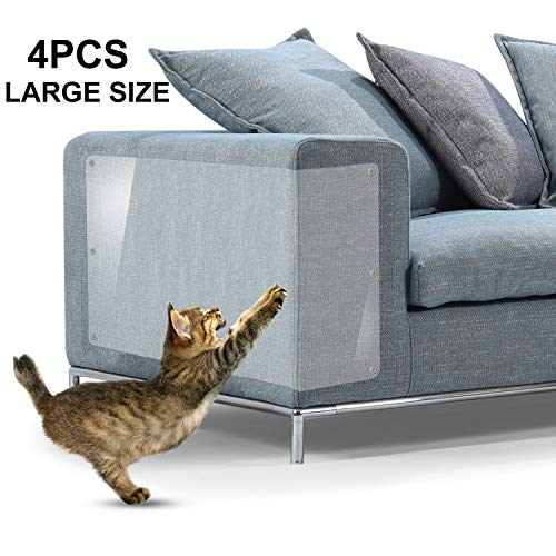 "IN HAND Furniture Scratch Guards, X-Large Premium Flexible Vinyl Cat Couch Protector Guards with Pins for Protecting Your Upholstered Furniture, Cat Scratch Deterrent Pad, 18"" L X 12"" W img 1"