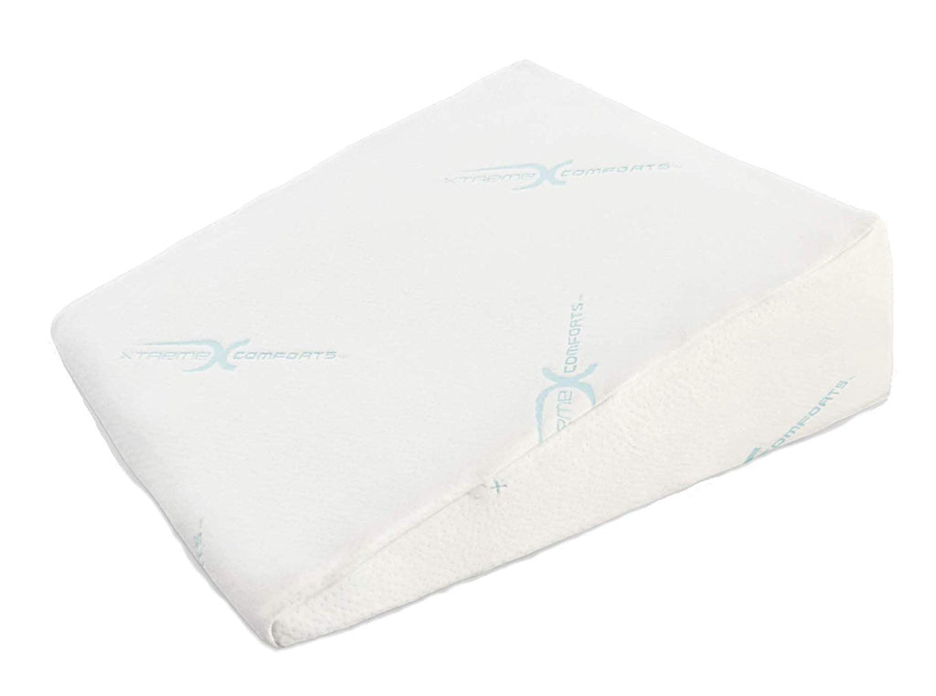 Xtreme Comforts Hypoallergenic Memory Foam Bed Wedge Bamboo Cover Designed to Fit Our (27 'x 25