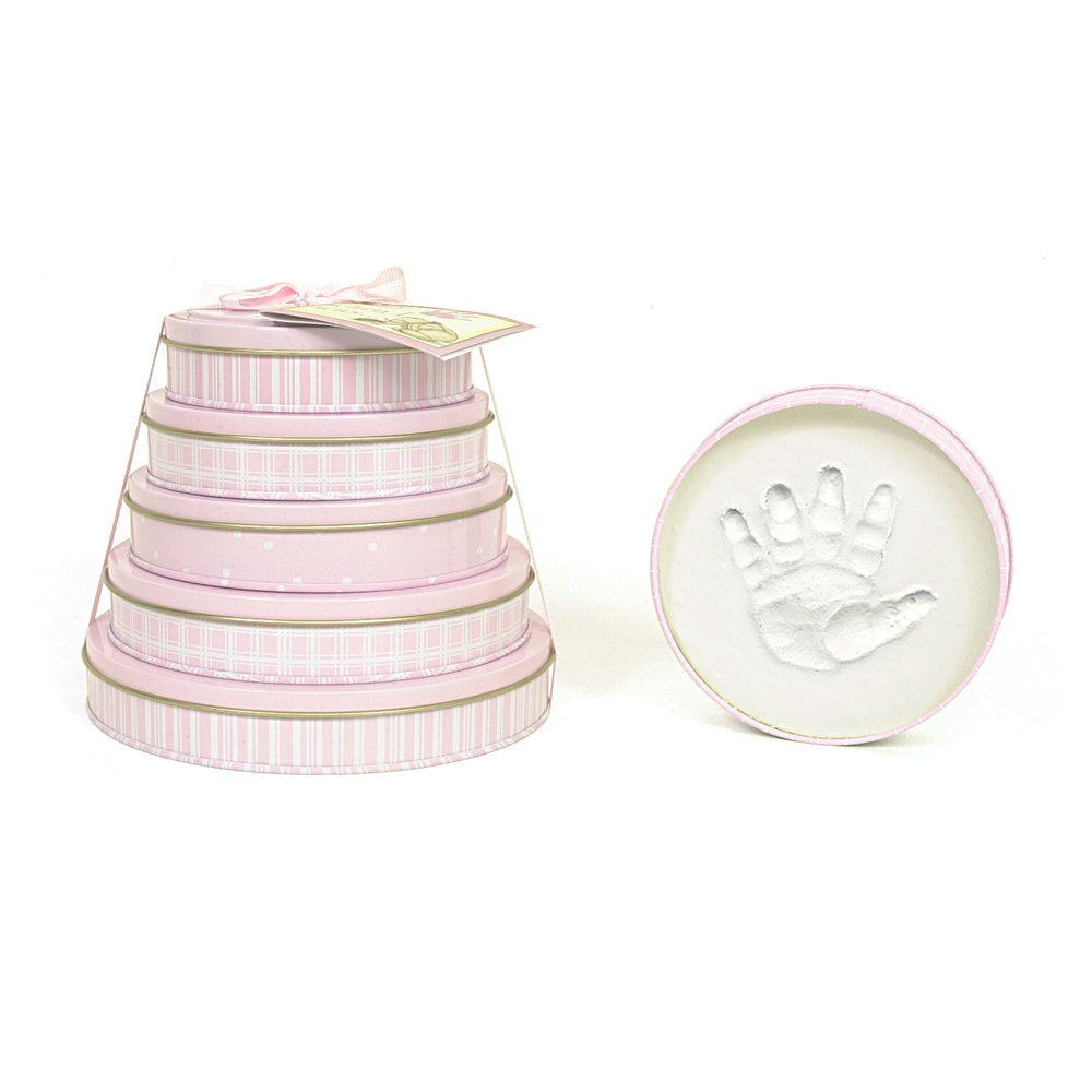 Child to Cherish Baby Handprint Tower of Time Kit, Pink
